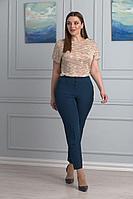 Женские летние бирюзовые большого размера брюки Anelli 228 бирюза 42р.