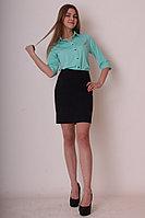 Женская осенняя трикотажная черная деловая юбка Mita ЖМ791 черный 42р.