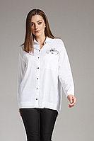 Женская осенняя хлопковая белая деловая блуза Anna Majewska 1156 42р.