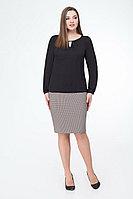 Женская осенняя черная нарядная блуза БелЭкспози 1167 46р.