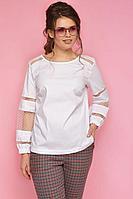Женская летняя белая блуза Anelli 663 белый 42р.