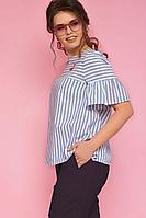 Женские летние хлопковые фиолетовые большого размера брюки Anelli 518 винный 42р.