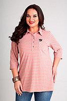 Женская летняя розовая большого размера блуза Таир-Гранд 62327 розовый 52р.