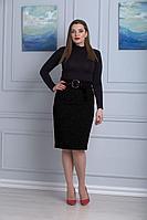 Женская летняя черная юбка Anelli 597 черный 44р.