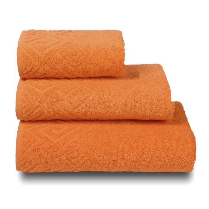 Полотенце махровое «Poseidon» цвет оранжевый, 70х130