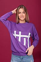 Женский осенний трикотажный фиолетовый спортивный джемпер HIT 2013 42р.