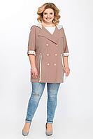 Женская осенняя коричневая большого размера куртка Matini 2.1279 капучино 56р.