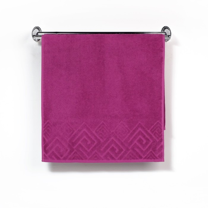 Полотенце махровое «Poseidon», 50х90, цвет сиреневый