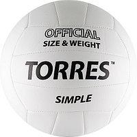 Мяч волейб. Torres Simple (5, Бело-черный)