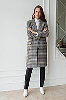Женское осеннее драповое серое пальто MAL'KO П106 40р.