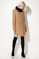 Женское осеннее драповое бежевое пальто Prio 709470 бежевый 42р.