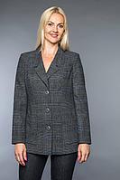 Женский осенний серый деловой большого размера жакет Avila 0732 серо-голубой 48р.