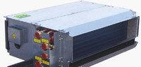 Канальный фанкойл двухтрубный в комплекте с фильтром подключение по воде слева  RFP 204WHBLA