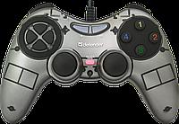 Проводной геймпад Defender Zoom USB Xinput (Silver)