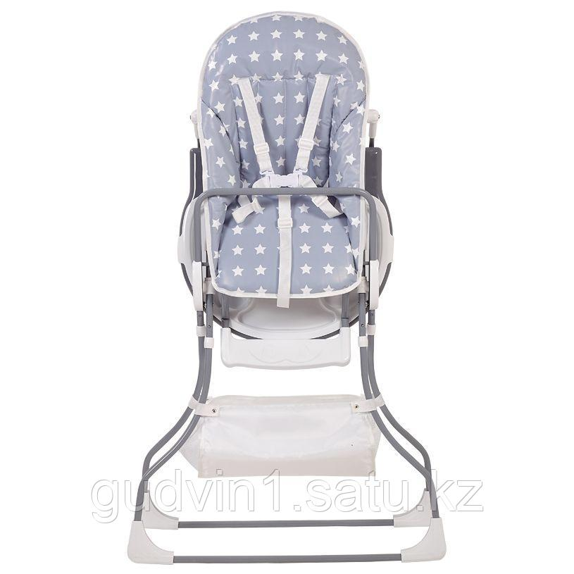 Стульчик для кормления Polini kids 252 Звезды, серый-белый 01-25084