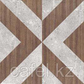 Керамогранит 42х42 Вита серый с узорами