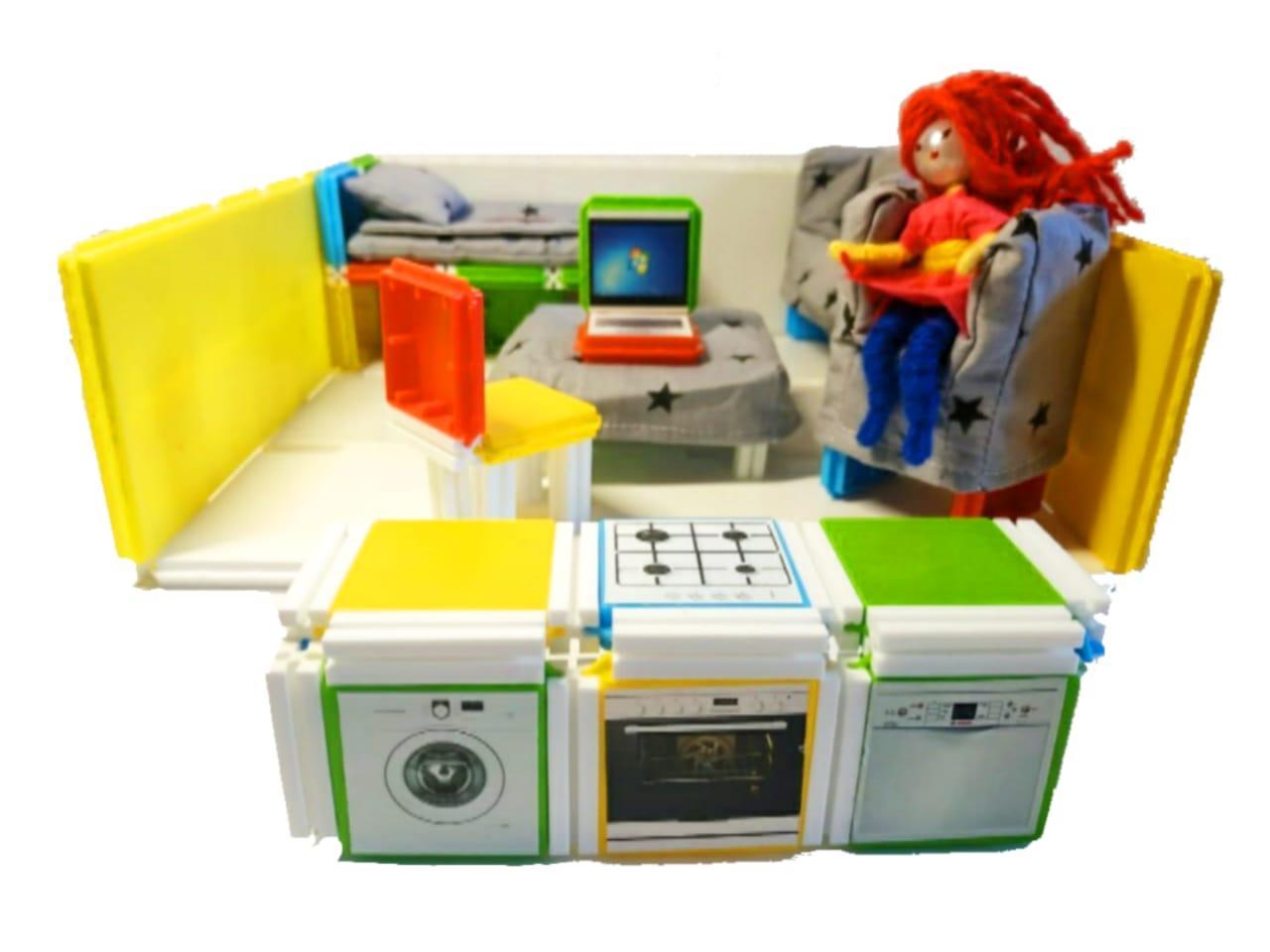 Домик для кукол и пупсов с мягкой мебелью и подарком. - фото 4