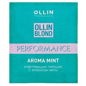 Ollin  Осветляющий порошок с ароматом мяты 30г