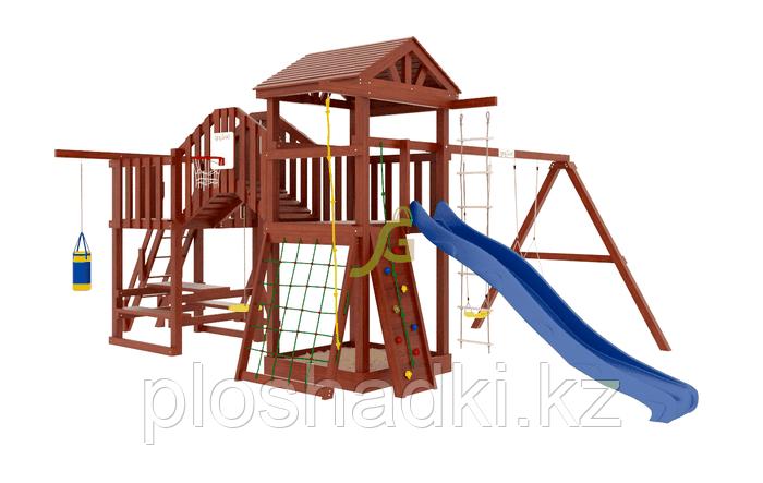 """IgraGrad   """"Панда Фани мостик"""", игровая башня, скалодром, горка, песочница, качели, боксерская груша"""