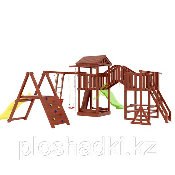 """IgraGrad   """"Панда Фани Gride мостик 2"""", башни игровые, горки, качели, песочница, канат, боксерская груша"""