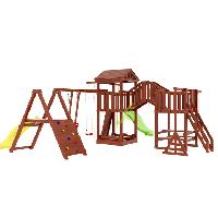 """IgraGrad   """"Панда Фани Gride мостик 2"""", башни игровые, горки, качели, песочница, канат, боксерская груша, фото 1"""