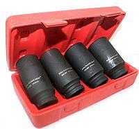 """Ударная головка для / Socket set, impact, 80mm lenth, drive 1"""", 4pcs, 22mm, 27mm, 38mm, 41mm TS-4260"""