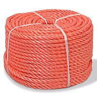 Канат, полиэтилен, 3-жильный, цвет: красный, 100м/ру / Rope PE, 3 strand, code: 161718, color: red