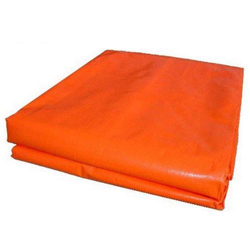 Брезент оранжевый, плотность 400г 12м*12м / Tarpaulin 400g orange non-flame retardant 12m*12m