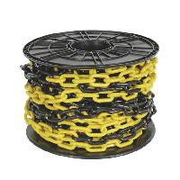Цепь пластиковая черная/желтая 6мм*25м / Plastic chain black/yellow 6mm*25m