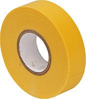 Лента, изоляционная желтая 0.13*19мм*9.15м / PVC insulating tape yellow 0.13*19mm*9.15m