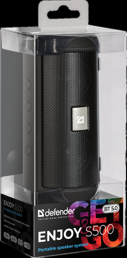 Портативная колонка Defender Enjoy S500 Bluetooth 6Вт (Black) - фото 3