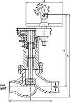 Клапан (вентиль) запорный 1с-8-2