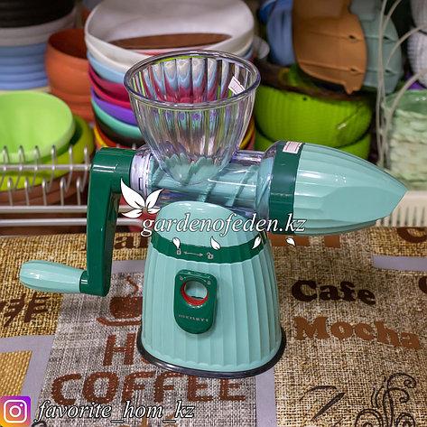 Соковыжималка механическая, ручная. Материал: Пластик. Цвет: Бирюзовый., фото 2