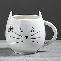 """Кружка """"Кот"""" белая, 0.4 л, микс"""