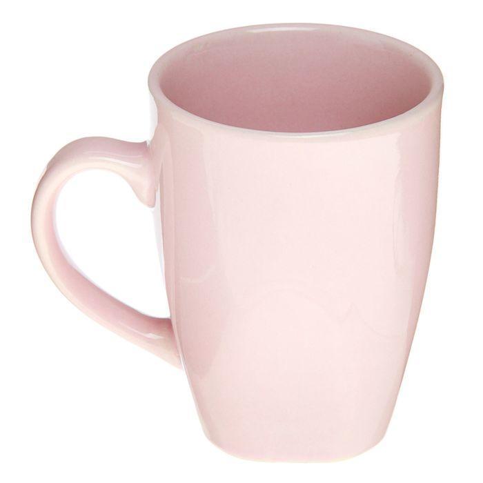 Кружка «Пастель», 280 мл, цвет розовый