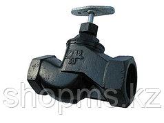 Клапан запорный чугунный 15кч18п (33п) Ду20