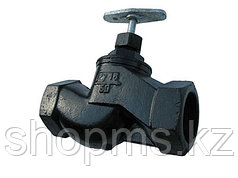 Клапан запорный чугунный 15кч18п (33п) Ду25
