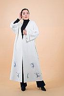 """Пальто женское дизайнерское """"Танцующие человечки"""""""