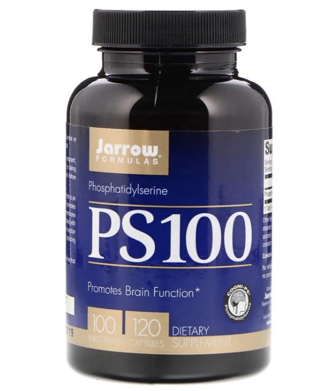 Jarrow Formulas, PS 100, фосфатидилсерин, 100 мг, 120 капсул