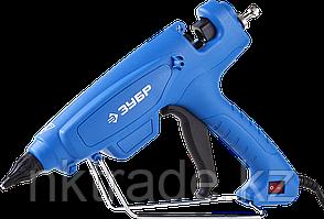 Пистолет ЗУБР клеевой (термоклеящий) 06851-120-12, эл, эргоном рукоятка, рабоч темп 193гр, d=12мм, 180Вт