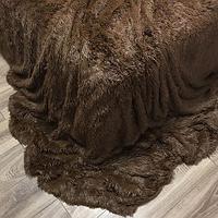 Плед-покрывало с длинным ворсом «Травка» Blumarine (Шоколадный)
