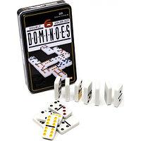 Настольная игра «Цветное Домино Double 6» в металлическом боксе