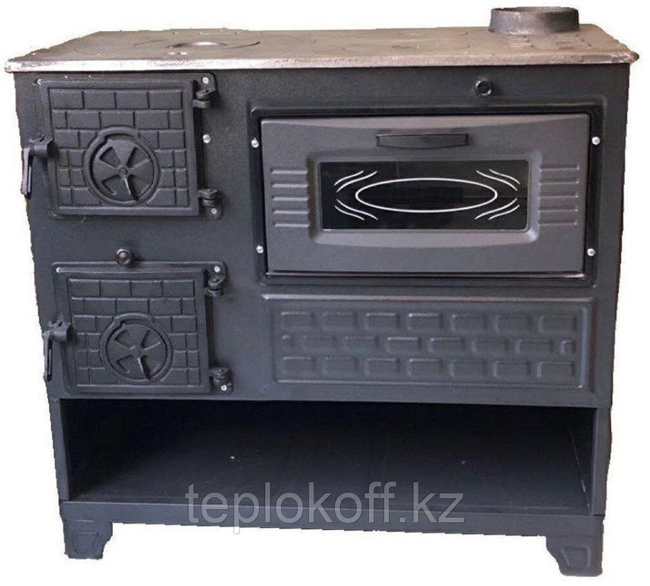 Чугунная отопительно-варочная печь с духовкой Мастерпечь ПВ-05