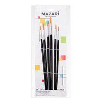 Набор кистей 6шт заостренные Mazari M-5152 синтетика