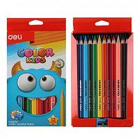 Цветные карандаши 12цв трехгранные -Jolliers- Jumb