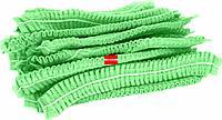 Шапочка шарлотка зеленая одноразовая 100шт/уп