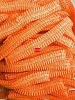 Шапочки шарлотка РФ одноразовые, 100шт/уп оранжевые
