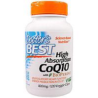 Doctor's Best, CoQ10, с BioPerine, 100 мг, 120 овощных капсул Doctor's Best, CoQ10, с BioPerine, 100 мг, 120