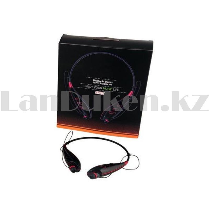 Беспроводные стерео Bluetooth наушники LG-S740T черные - фото 9