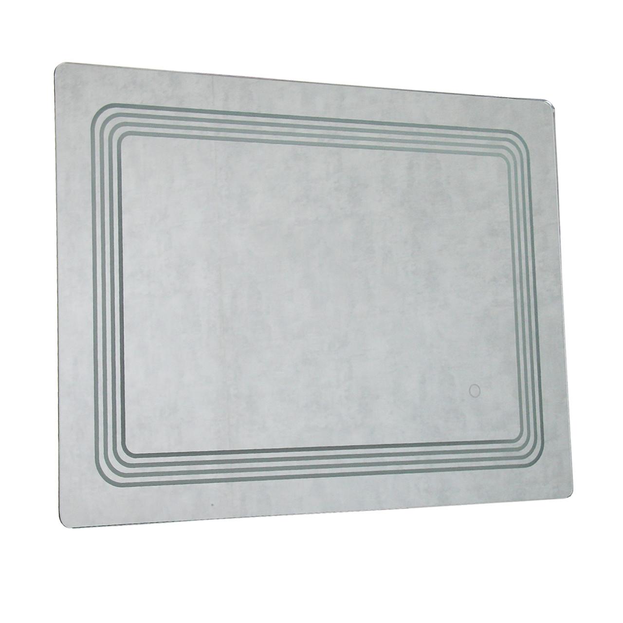 Зеркало LED117 для ванной с подсветкой 80х60